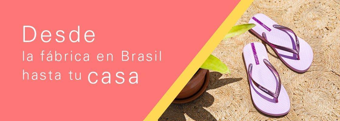 Las sandalias Ipanema se fabrican en Brasil y te las llevamos hasta la puerta de tu casa.