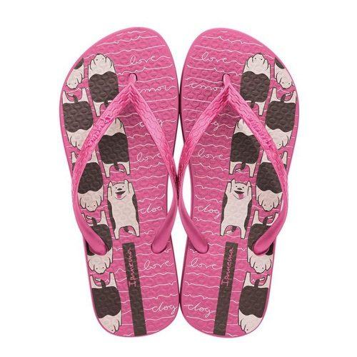 """Sandalia Ipanema de la colección """"Bliss Ad"""" con estampado de Perritos (26508-25068) de color Rosa/Rosa/Marrón"""