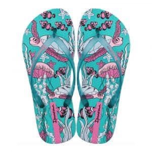 """Sandalia Ipanema de la colección """"Feelings Fem"""" con estampado de tortugas (26422-20729) de color Azul/Azul"""