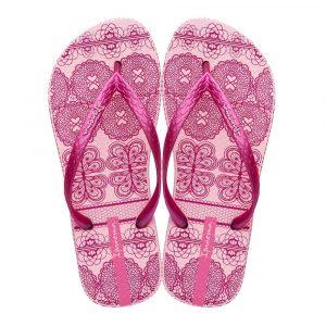 """Sandalia Ipanema de la colección """"Feelings Fem"""" con estampado de tejidos (26422-24517) de color Rosa/Rosa/Metalizado"""