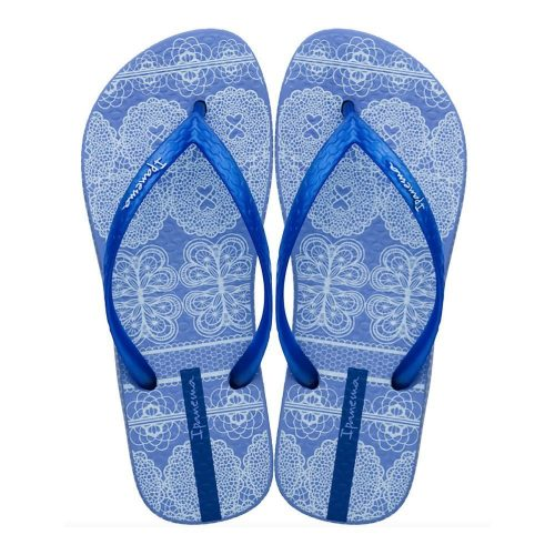 """Sandalia Ipanema de la colección """"Feelings Fem"""" con estampado de tejidos (26422-24675) de color Azul/Azul Perlado"""