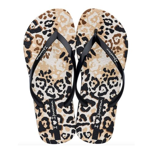 """Sandalia Ipanema de la colección """"I Love Safari Fem"""" con estampado de leopardo (26456-20837) de color Beige/Negro"""
