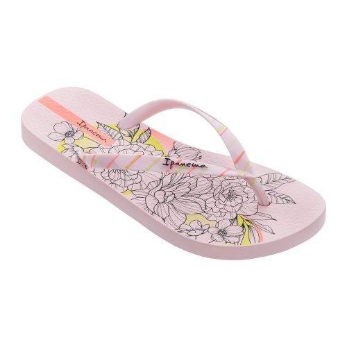 """Sandalia Ipanema de la colección """"Sem Igual Tattoo"""" con estampado de tatuajes de flores (26454-20323) de color Rosa/Naranja"""