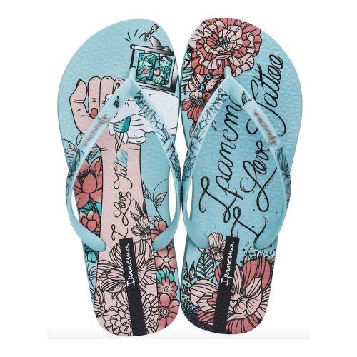 """Sandalia Ipanema de la colección """"Sem Igual Tattoo"""" con estampado de tatuajes (26454-20386) de color Verde/Verde/Rosa"""